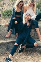 Knee Hole Design Yoga Pants Women Black Tight Yoga Leggings Sports Leggings Yoga Pants Women Ladies