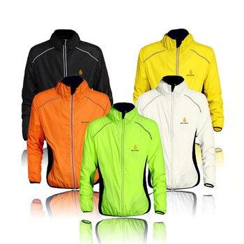 Impermeable de marca 2018, chaqueta de manga larga para hombre y mujer, abrigo cortavientos a prueba de viento, jerséis para ciclismo, Impermeable