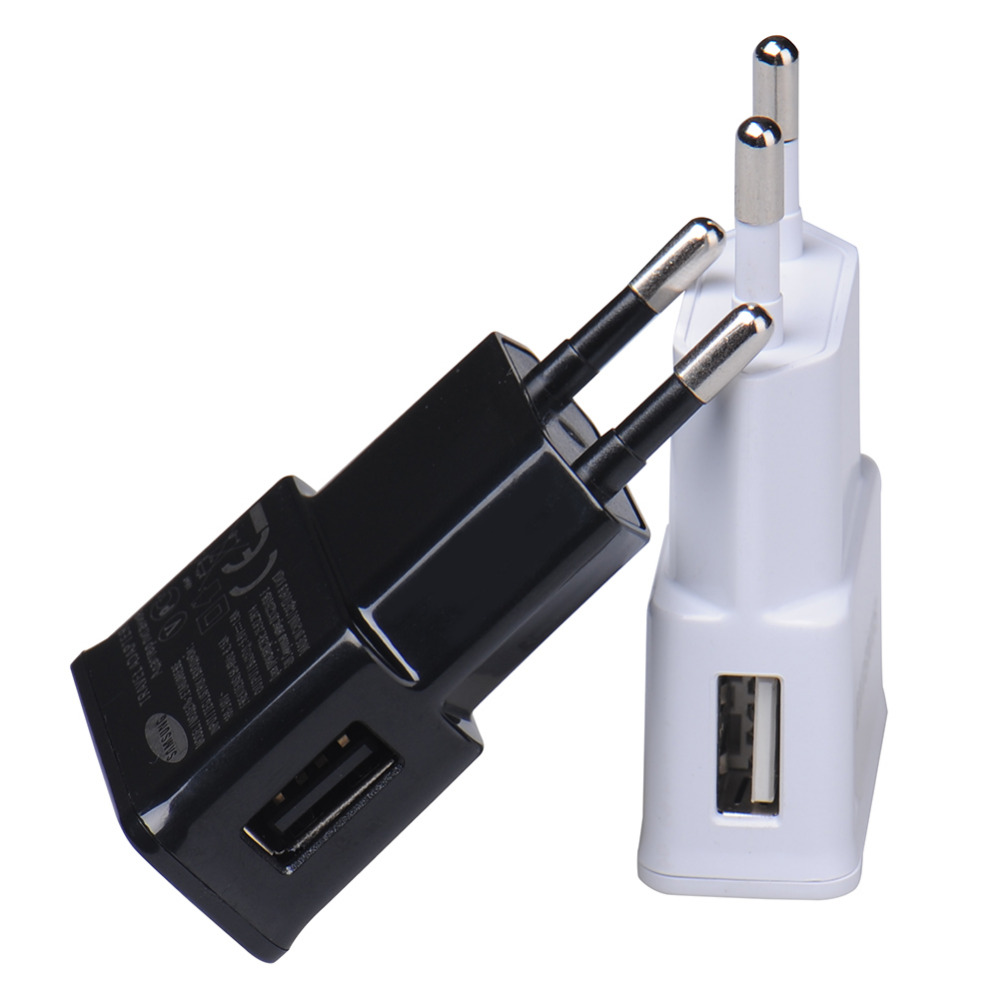 EU plug Charger Adapter USB Wall Charger Potable Mobile phone Charger for iPhone Android phones Tablets Travel Charger