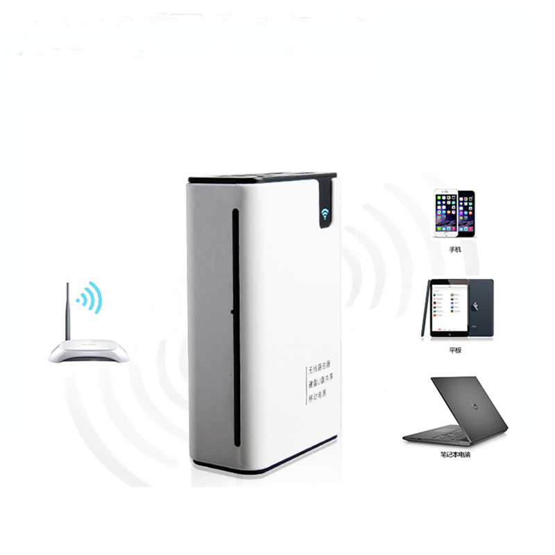 3G WIFI Router Wireless Card Reader TF M2 SD MS CF Power Bank 7800mah For iPhone