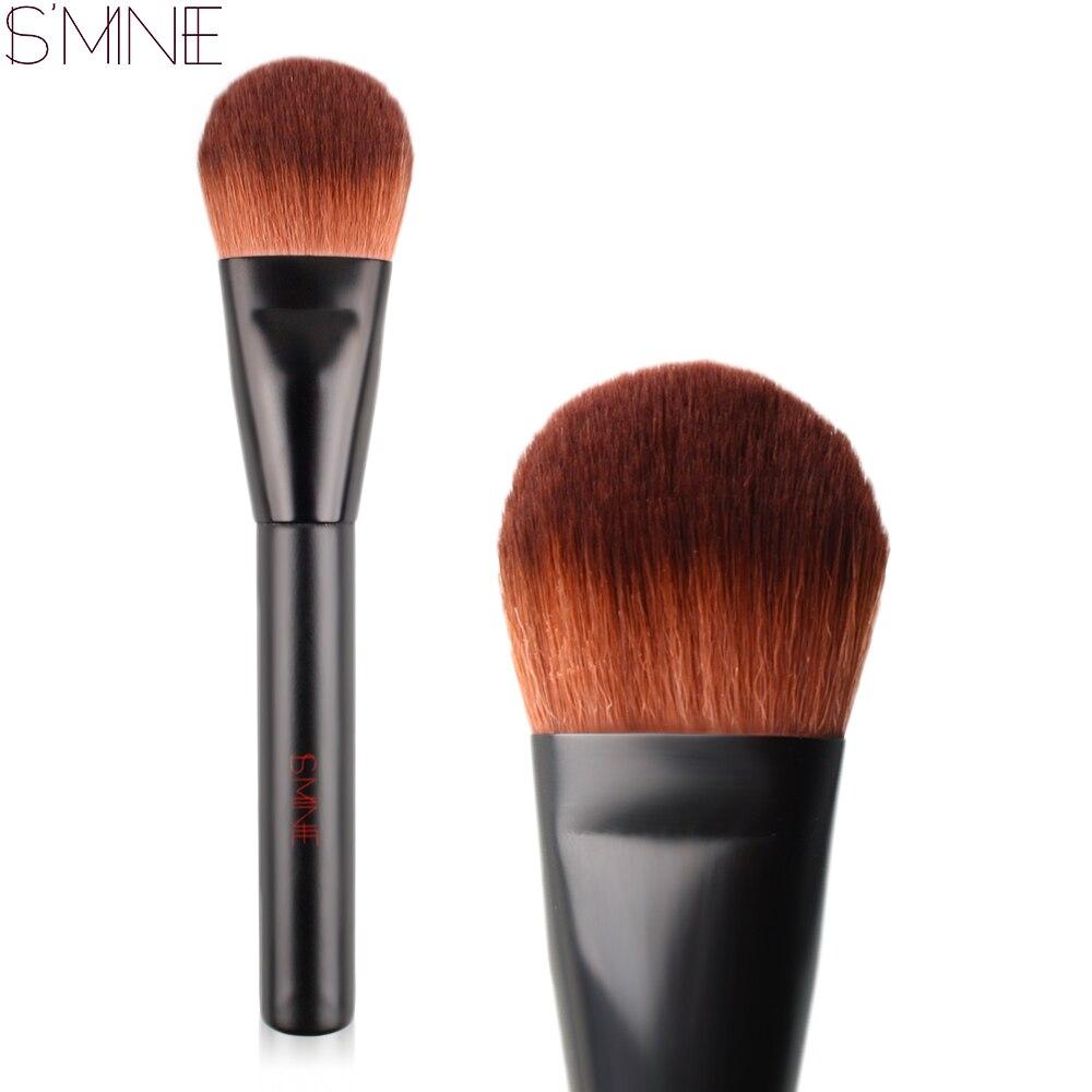 ISMINE 1 PC Face Makeup Brush Powder Blush Brush Black