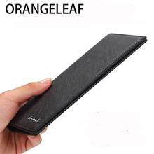 Luxury Brand Men Slim Wallets Long Purse Wallet Male Clutch Leather Ultrathin Business Coin