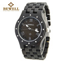 BEWELL Men Watches Top Brand Luxury Round Dial Sandarwood Wristwatch Quartz With Paper Box Gift 109A