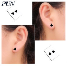 PUN clip on korea earrings ear rings cuff child jewelry non pierced fake earrings without hole climber accesories bijouterie(China)
