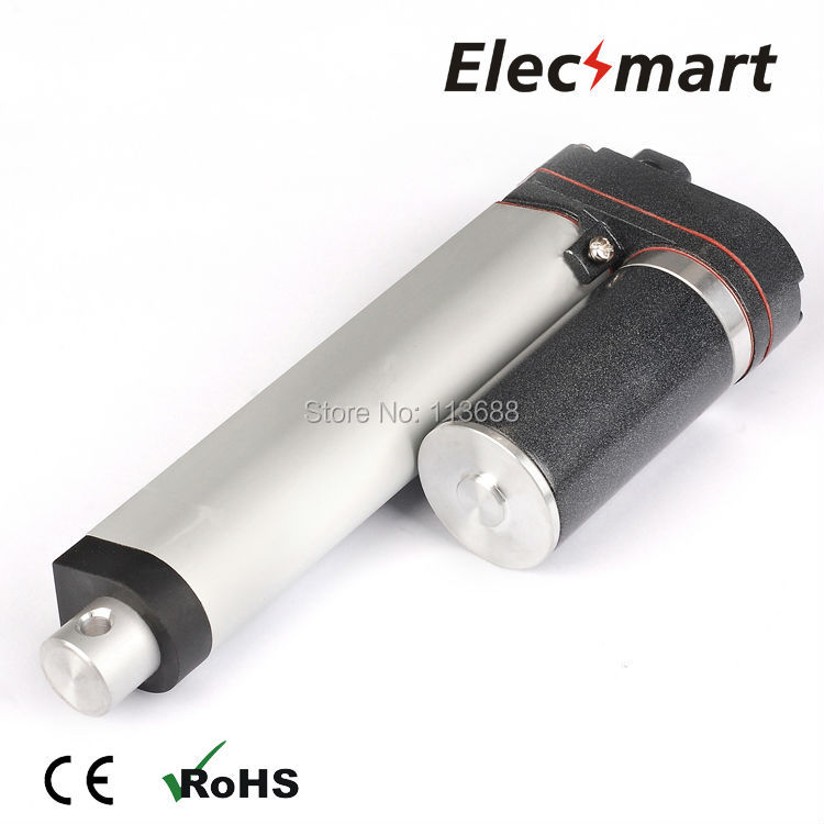 EXC758-A DC12V  150mm/6in Stroke 200N/45Lbf Load Force 1mm/s No-Load Speed Linear ActuatorEXC758-A DC12V  150mm/6in Stroke 200N/45Lbf Load Force 1mm/s No-Load Speed Linear Actuator