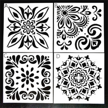 DIY Painting 15*15cm Decor Vintage Floral Art Stencil Template For Tile Furniture Floor