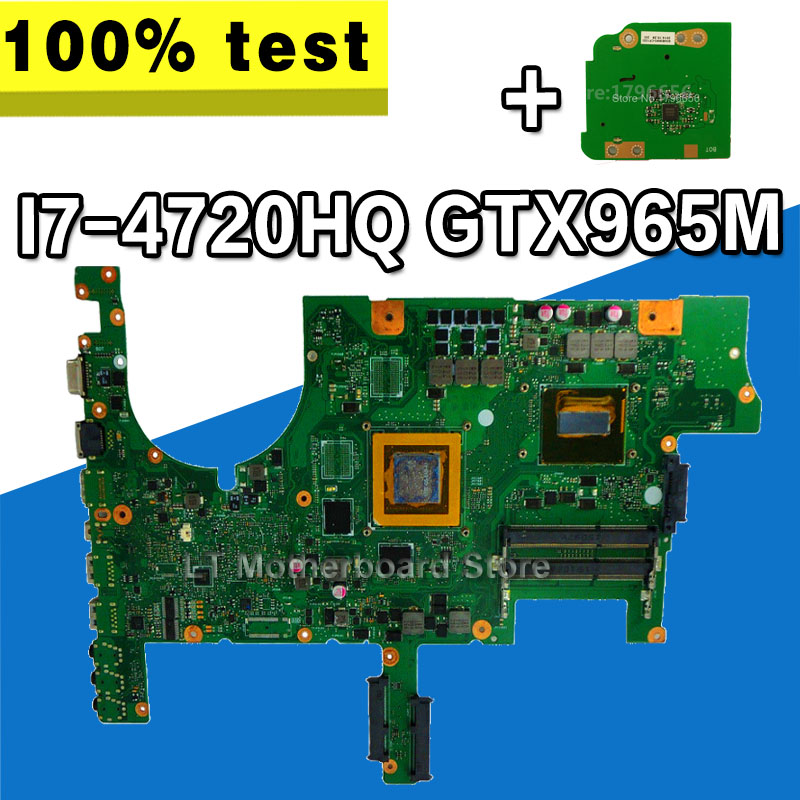 Carte mère d'ordinateur portable SAMXINNIO ROG G751JL pour ASUS G751JL G751JY G751J G751 Test carte mère originale I7-4720HQ GTX965M-V2G