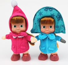 New Arrival Stuffed Animals & Plush Toys Masha And Bear doll Russian Movie Masha plush Toy Dolls For Gifts No Music L434