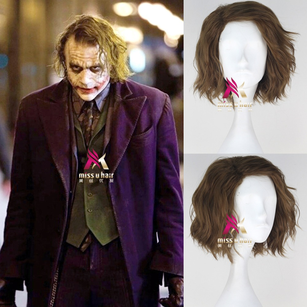 Movie Suicide Squad Joker Clown wig Rogue Play Poseidon Hair DC Comic Cosplay Halloween Costume Synthetic Refractory Fiber Wigs