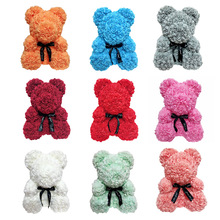 9 Colors Eternal Roses Bear Shape Handmade Durable Preservation ValentineS Day Birthday Gifts Emitting Fragrance