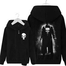 Nuevo el Punisher sudaderas con capucha cálido hombre abrigo Casual chaquetas  sudaderas con capucha de invierno hombres espesar . 928b3ed97c06