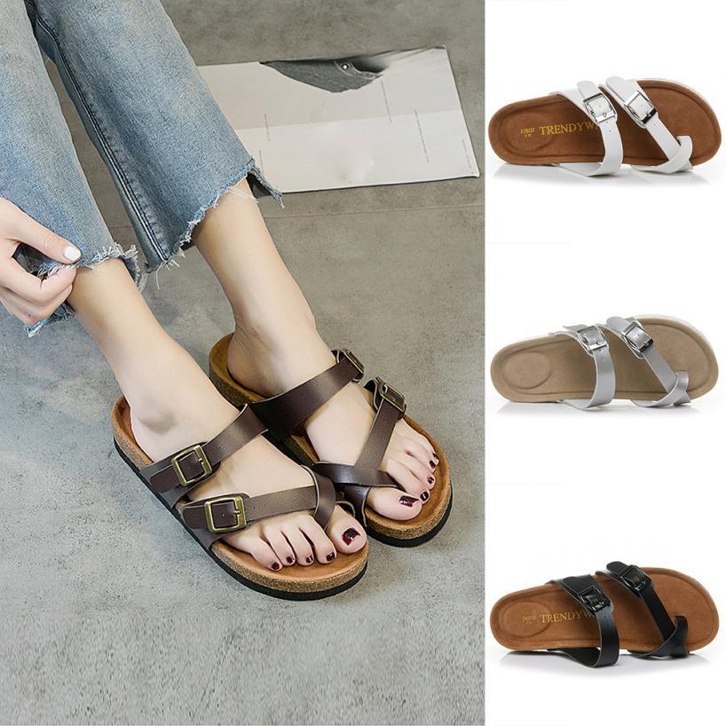 Sagace Shoes Flip Flops Womens Cross Toe Strap Flat -9994