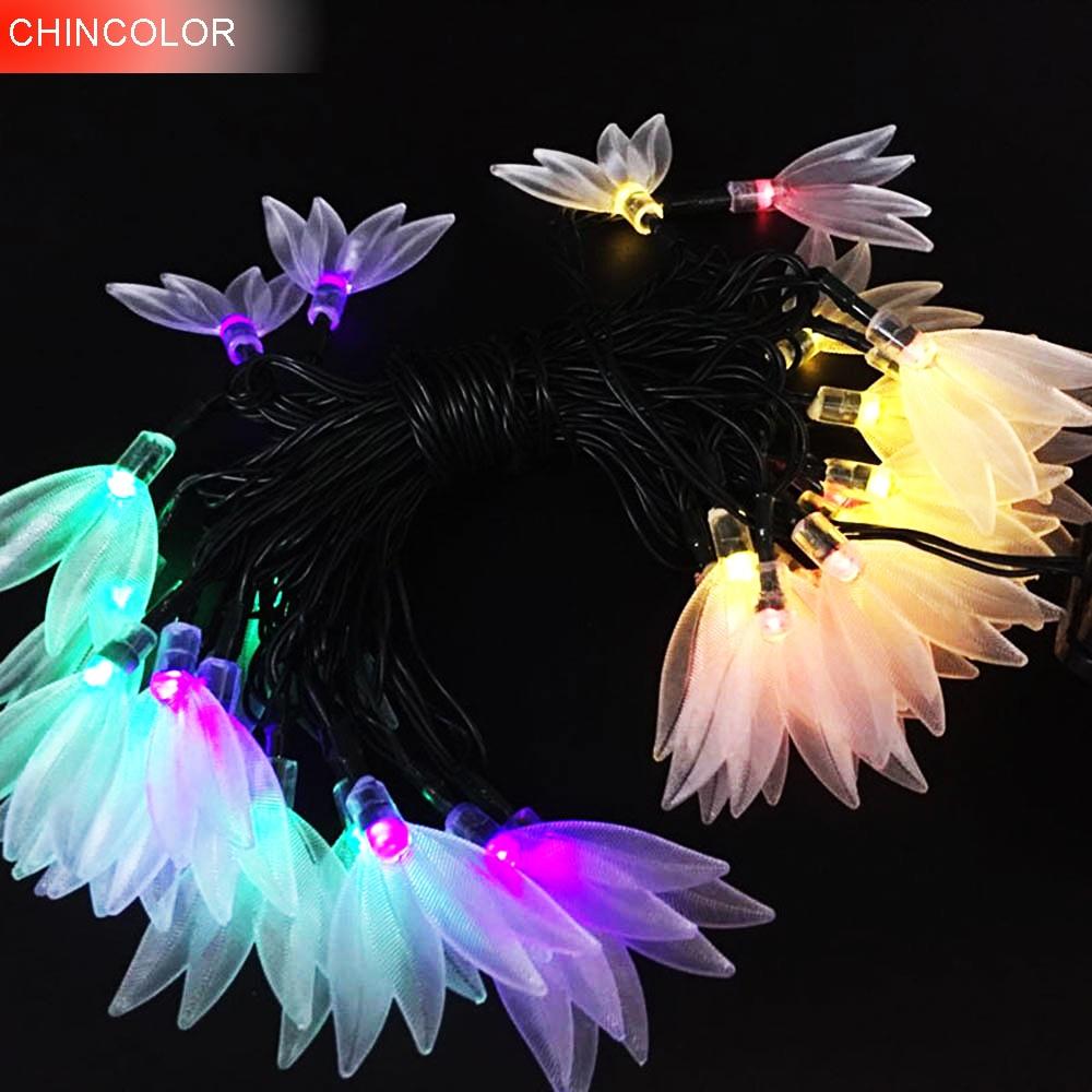 3.5/3M 10/20LEDS Holiday lights Lucky Clover Led Light string Solar/Battery Operated Xmas christmas weddingr fairy decoration DA