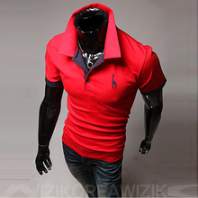 The 2016 Summer males's style explosion new code multicolor Paul deer males's shirt quick sleeved POLO shirt