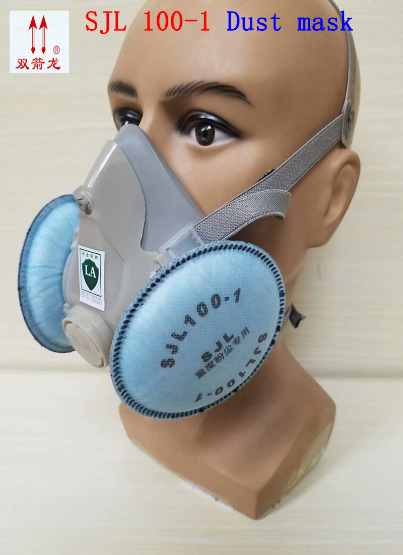SJL 100-1 respirator dust mask high quality respirator mask against Oil particles Welding dust PM2.5 filter mask provide respirator dust mask high quality gray dust mask 10 piece filter cotton painting welding respiration mask
