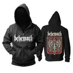 Bloodhoof behemoth band Death Metal Black Metal Progressieve Metal top Zwarte Hoodie Aziatische Grootte