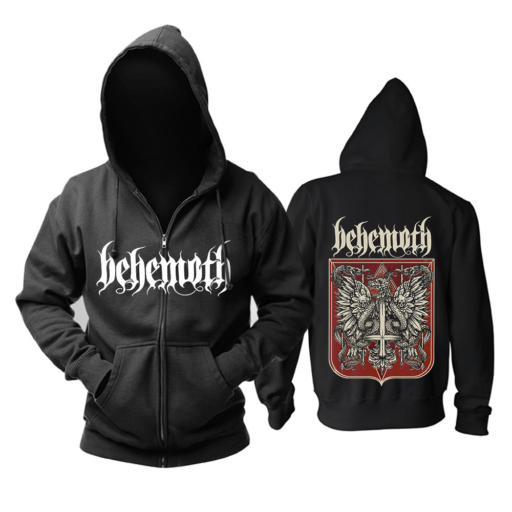 Bloodhoof Behemoth Band Death Metal Black Metal Progressive Metal Top Black Hoodie Asian Size