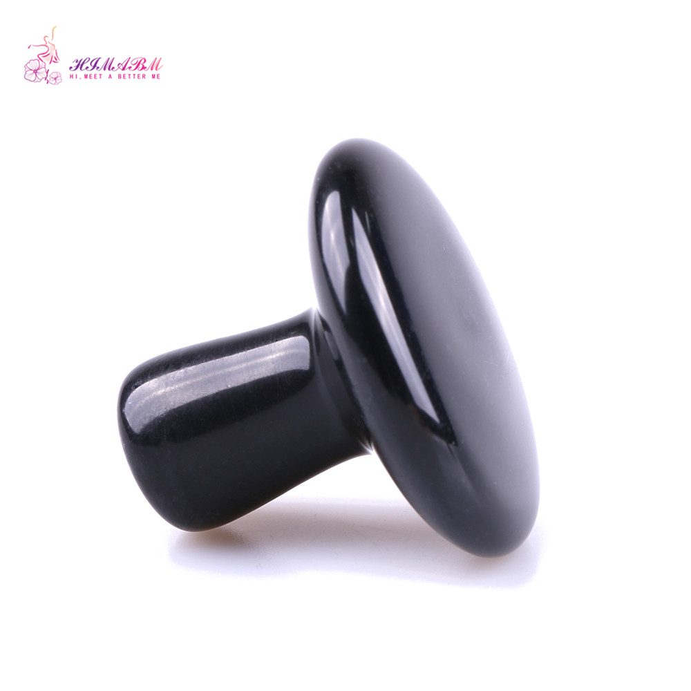 1 Pcs obsidian jade small mushroom massage for face beauty relax health body chakra reiking healing stone health tool