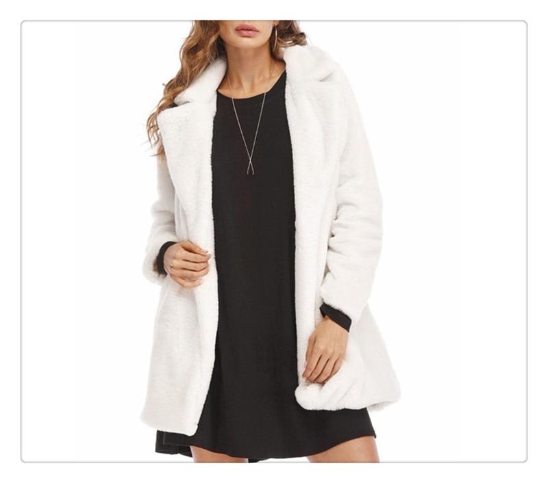 Imitation fur coat 2018 European and American women's wear long and loose plush soft rabbit hair (2)