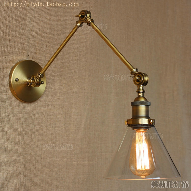 Modern Vintage Loft Adjustable Industrial Metal Wall Light retro swing arm brass wall lamp country style Sconce Lamp Fixtures american loft style industrial antique wall light fixtures creative arm wall lamp simple adjustable angle wall sconce lamparas