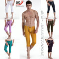 New wj men's  tight low-waist warm pants  underwear  male basic thermal long johns 7 colors size S M L