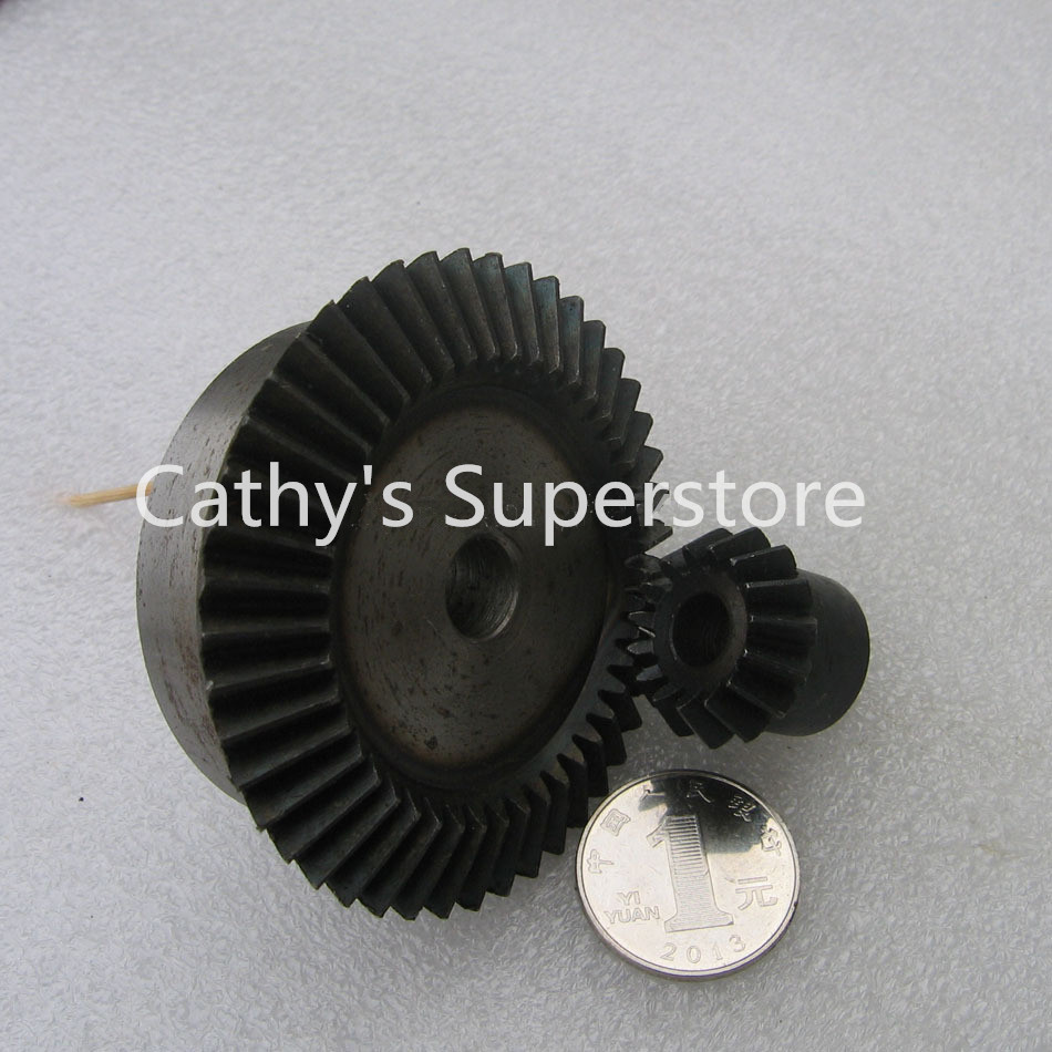 Bevel Gear 15Teeth 45Teeth ratio 1:3 Mod 1.5 Bore 8mm 45# Steel Right Angle Transmission parts DIY Robot competition M=1.5