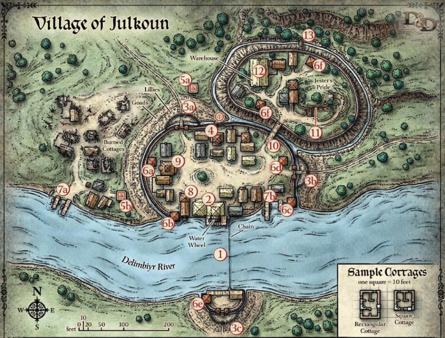 US $3.98 |Village of Julkoun Delimbiyr River Map Clic Vintage Retro on