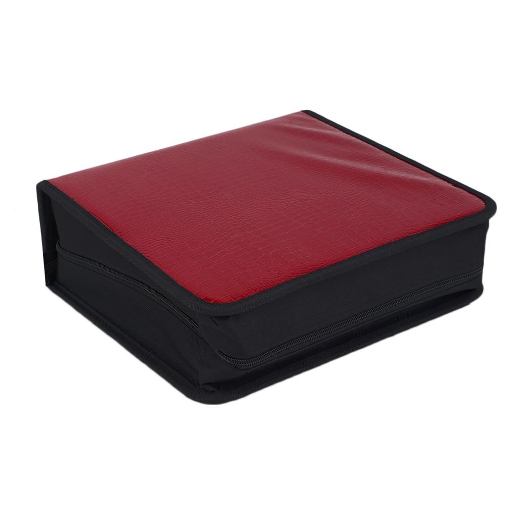 Capacity 400 Disc CD DVD Storage Bag Disc Organizer Holder Media Carry Box Case Portable Wallet Cover Bag Hot Promotion