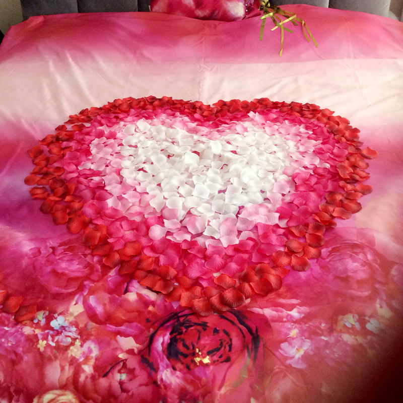 JaneVini Kunstmatige Rozenblaadjes 1000 stks Bloemenmeisje Toss Zijde - Bruiloft accessoires - Foto 2
