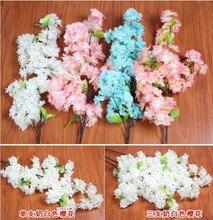 20pcs Cherry Blossom Fake Sakura Flower 100cm Long for Wedding Centerpieces Home Party Artificial Decorative Flowers