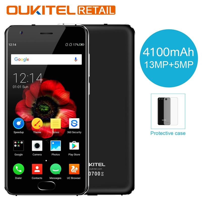 OUKITEL K4000 Plus 5.0'' MT6737 Quad Core Android 6.0 Smartphone 2GB RAM 16GB ROM 4100mAh 13MP Fingerprint 4G LTE Mobile Phone