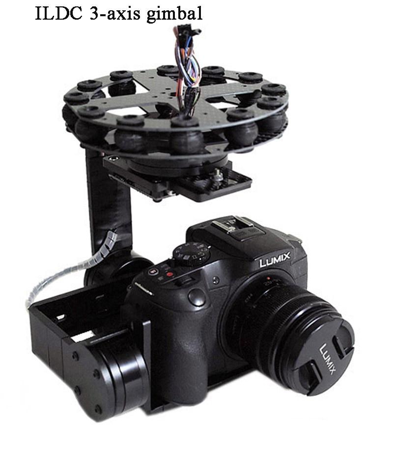 Universal 3 Axis 5D 3D 2 Gimbal PTZ DSLR ILDC Camera Pan Tilt Brushless For FPV Aerial Photography Air Survey - 4