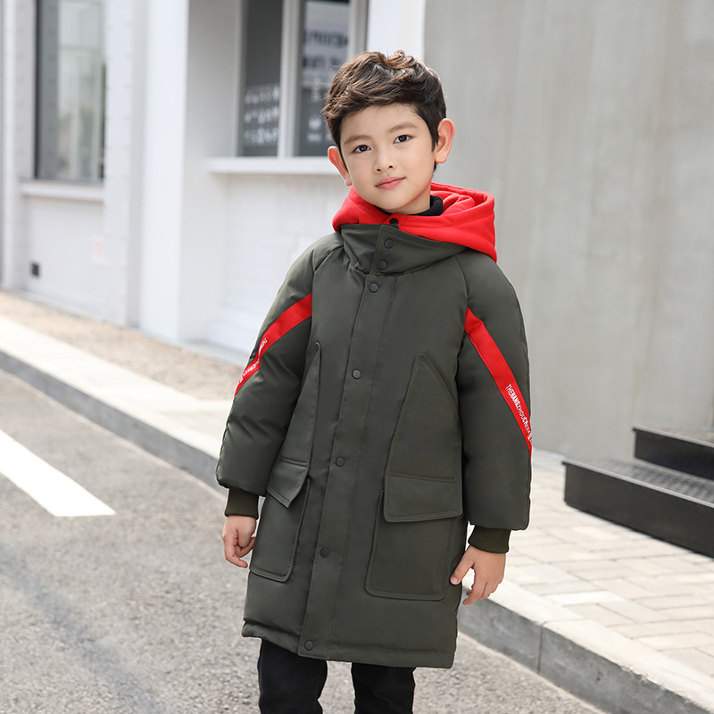 Children's wear long cuhk in 2018 the new children down jacket boy child han edition more leisure warm coat girls down jacket long in the new fashion winter 2017 female children upset han edition tide leisure coat