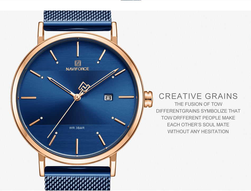 NAVIFORCE New Stylish Women Watches Top Brand Luxury Stainless Steel Strap Quartz Wristwatch For Woman Bracelet Watch 2019 Gift  (9)
