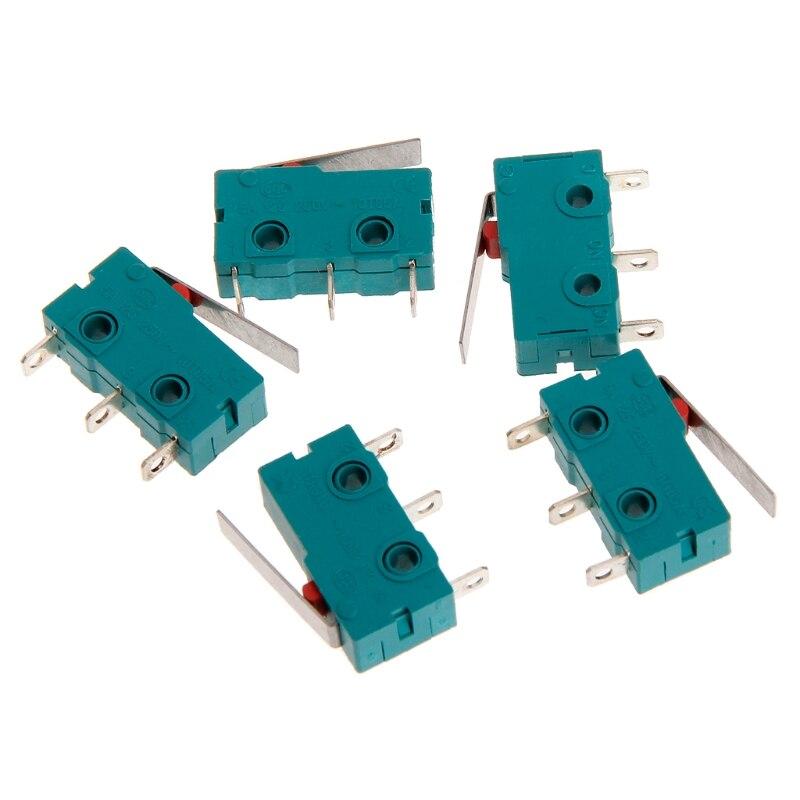 5 шт. путешествия Микровыключатель концевой выключатель 3 Pin N/O N/C 5A 250 В микро-переключатель KW4-3Z-