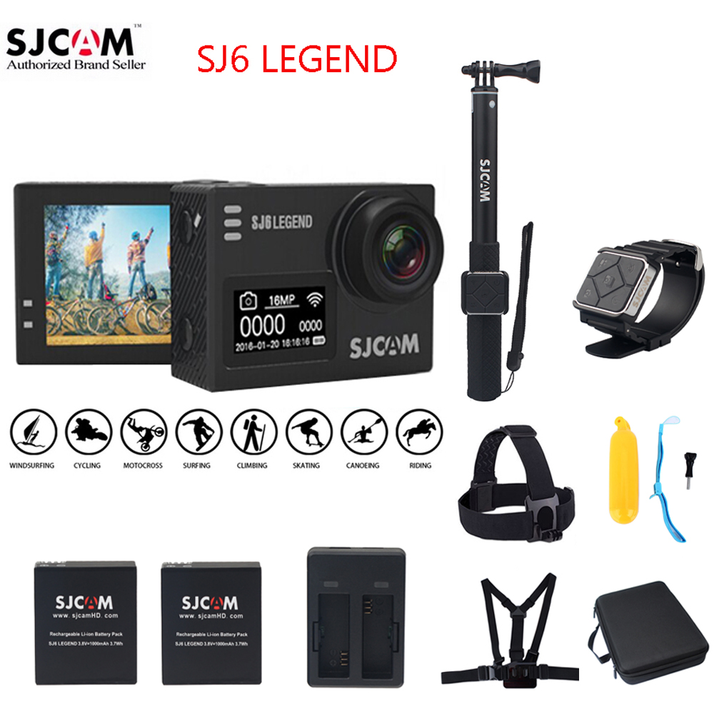 100% Original SJCAM SJ6 LEGEND 2.0 Touch Screen 4K Support Remote 30M Waterproof Diving Sports Action Camera Mini DVR Cam sjcam sj6 legend