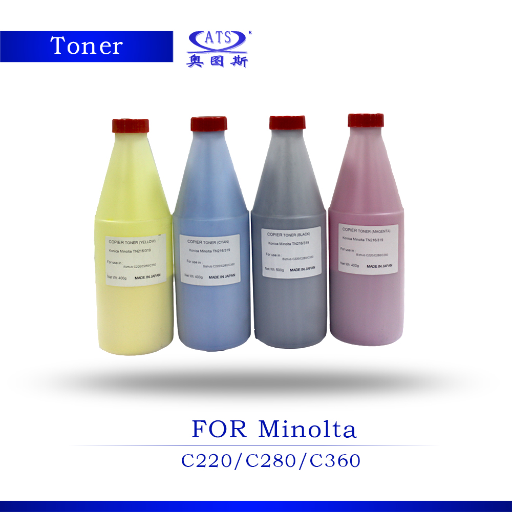 ФОТО 1PCS 400G Toner Poudre Photocopy machine Toner Powder For Konica Minolta Toner Compatible C220 280 360 Copier Parts C 220