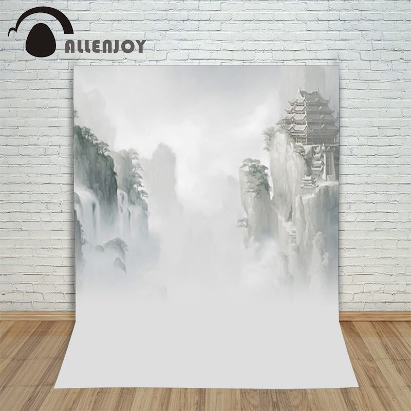photo studio baby backdrop 6.5x10ft(200x300cm) Chinese style hand-painted landscapes photographic background цена и фото