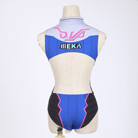 Sexy Game OW D VA Cosplay Costume One Piece Swimwear Swimsuit SUKUMIZU Lycra S L Free