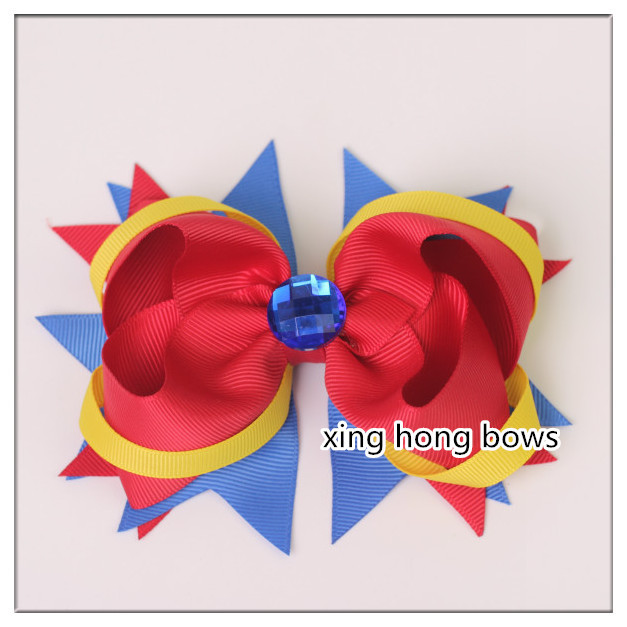 newest Ribbon Hair Bows WITH band Girloutique hairBows Hair Clip girl chidren accessory clips