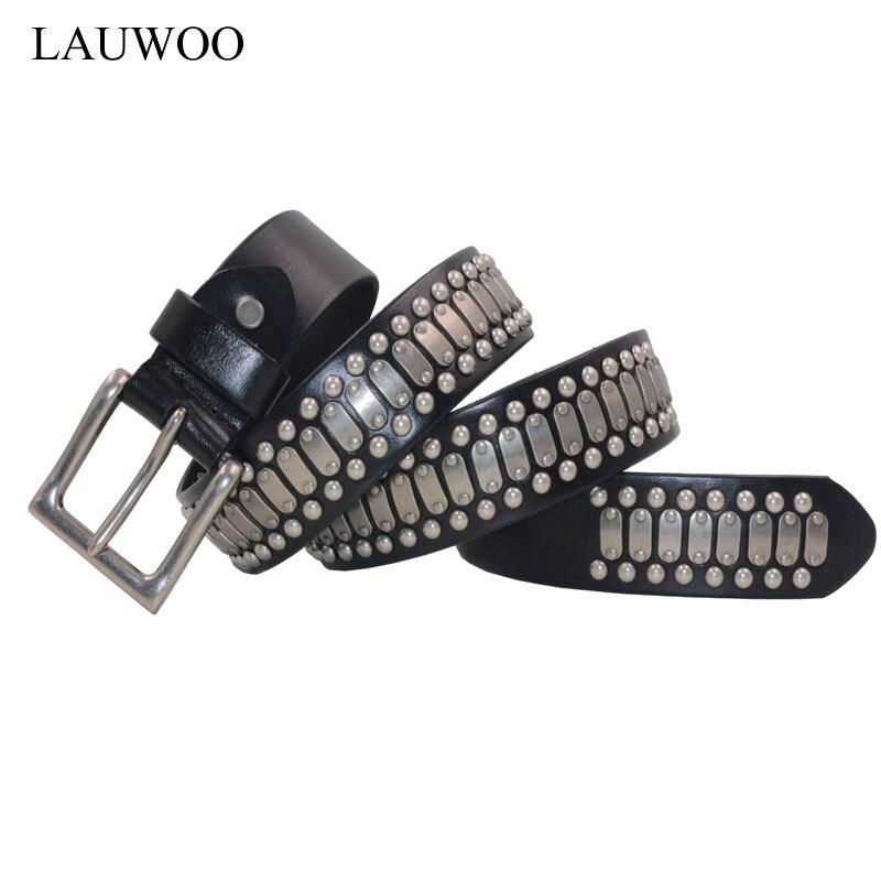 75c4b41c9450 Ceinture en cuir personnalité rivet pentagramme punk rock hip hop ceinture  en cuir ceinture à la main Livraison Gratuite GPZ