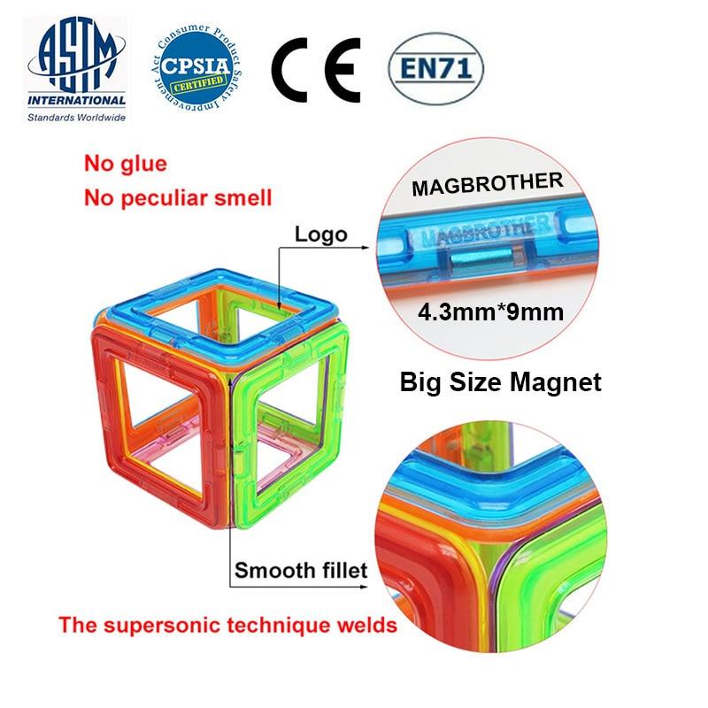 88 pièces taille Standard blocs de construction magnétiques 3D modèle briques de construction enfants jouets éducatifs véhicule d'ingénierie-in Blocs from Jeux et loisirs    3