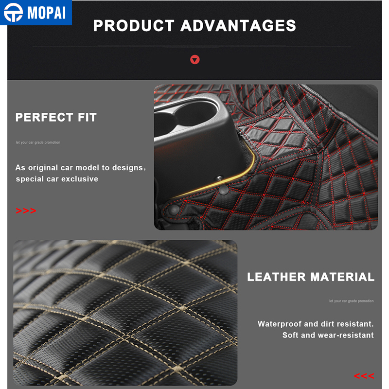 Image 4 - MOPAI Leather Car Interior Floor Foot Mats Carpets Foot Pads for Suzuki Jimny 2007 2017 Car Accessories-in Interior Mouldings from Automobiles & Motorcycles