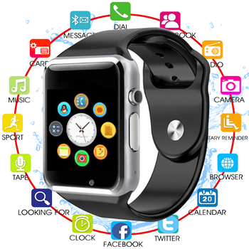 A1 WristWatch Bluetooth Smart Watch Fitness Pedometer Wear SIM Camera Smartwatch For Android Phone Facebook Whatsapp Kids Child