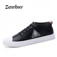 ZENVBNV New 2017 Men Shoes Fashion Black Men Casual Shoes Genuine Leather Male Casual Shoes Luxury