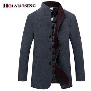 Holyrising Men Wool Coats Casual Woolen Jackets For Male