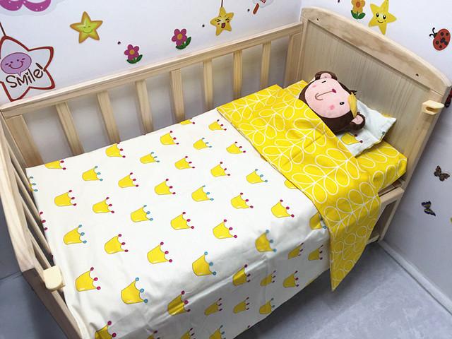 Promoção! 3 PCS berço cama conjunto material de algodão jogo de cama, ( Capa de edredon + folha + fronha )