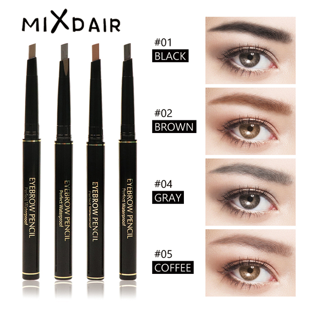 a651ec4752b2 MIXDAIR 4 Colors 24 Hours Long-lasting Eyebrow Pencil Waterproof Automatic  Eyebrow Pen Makeup Paint Easy to Wear Eye Brow Tint