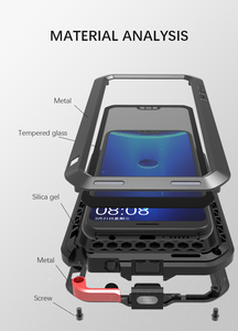 Image 3 - Gorilla glass film gift) LOVE MEI Metal Waterproof Case For Huawei P20 Lite 5.84 Shockproof Cover For huawei Nova 3E cover capa