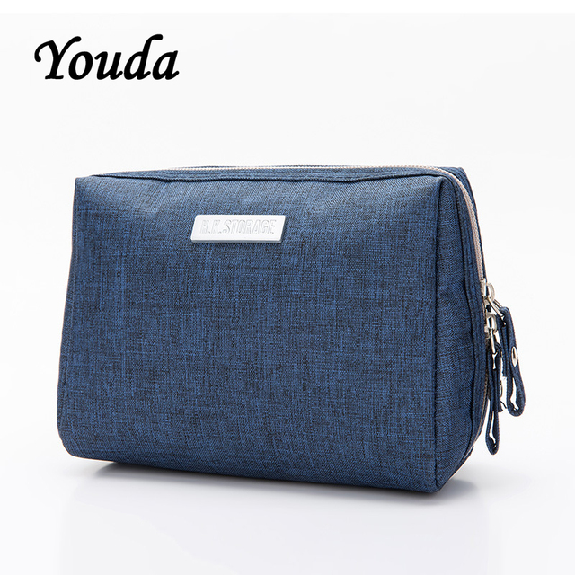Youda Multiple Colours Large Capacity Waterproof Travel Package Wash Cosmetic Bag Storage Bags High Quality Female Make Up Purse